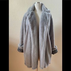Splendid NWOT faux fur jacket with Leopard lining